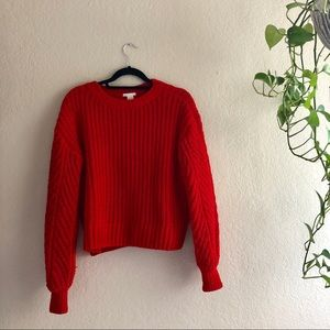 H&M red sweater